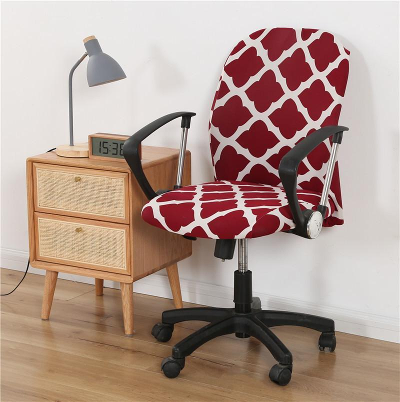 Elastische Spandex-Büro-Computer-Sessel-Cover-Besprechungsraum staubfeste Stretch-bedruckte rotierende Hubsitz-Waschbare Schutz-Stuhlabdeckungen