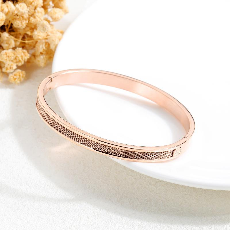 TF-278 Braccialetto da donna in acciaio in acciaio TF-278 Trendy All-Match Love Giorno Placcato oro Placcato Bracciale gioielli all'ingrosso