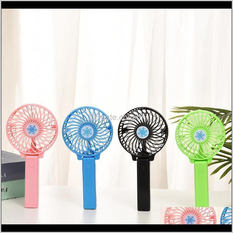 Rechargeable Air Cooler Mini Operated Hand Held 1200Mah Desk Pocket Usb Portable Office Fan Party Favor Owf1744 Br1Rt J01Go