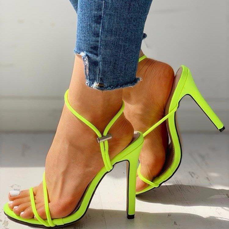 Moda Yaz Kadın Sandalet Seksi Exquisite 10 cm Yüksek Topuklu Bayanlar Artan Stiletto Süper Topuk Bayan Giysiler Elbise Ayakkabı Pompaları