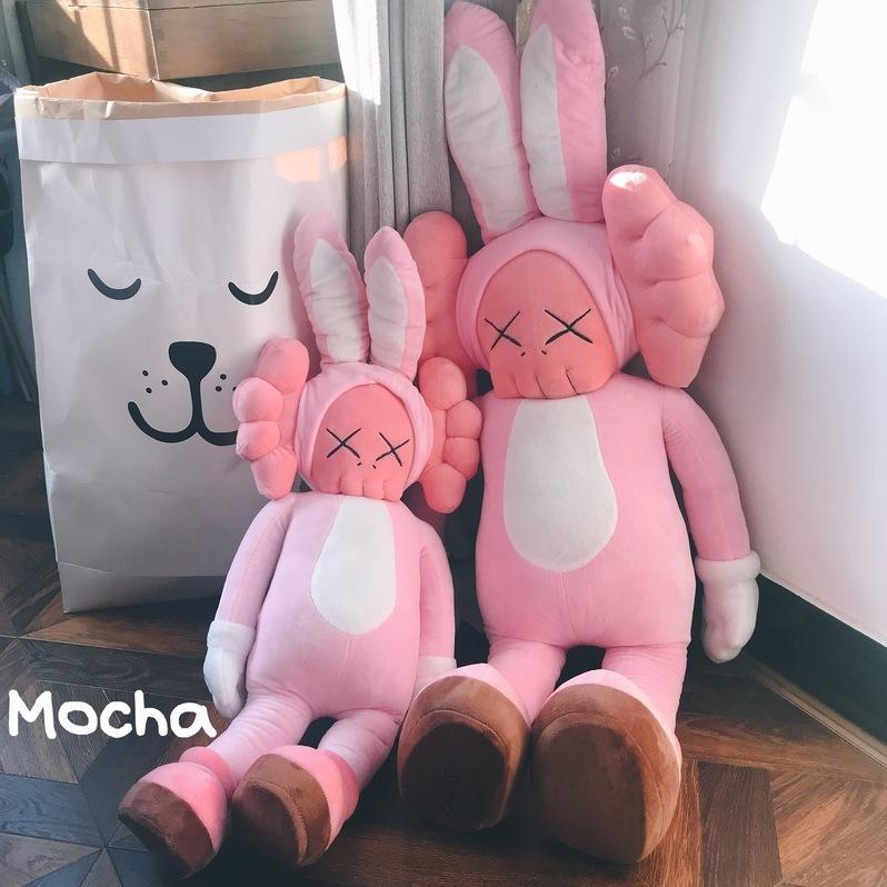 Bonecas de pelúcia tirosio tiroteio rua boneca rosa coelho boneca presente