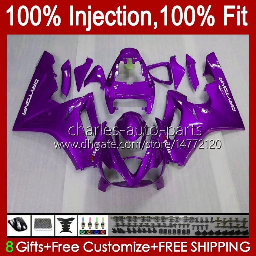 Injectie Mold Lichaam voor Triumph Daytona 675 R 675R 02 03 04 05 2006 2007 2008 Kit 106HC.88 paars All Stocktona675 Daytona 675 2002 2003 2004 2005 06 07 08 OEM Fairing