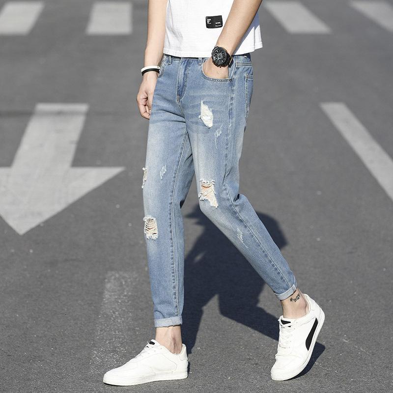 Pantalones vitriales de estilo de primavera y verano Moda Palagos casuales de los hombres coreanos Pantalones de la Juventud Coreana