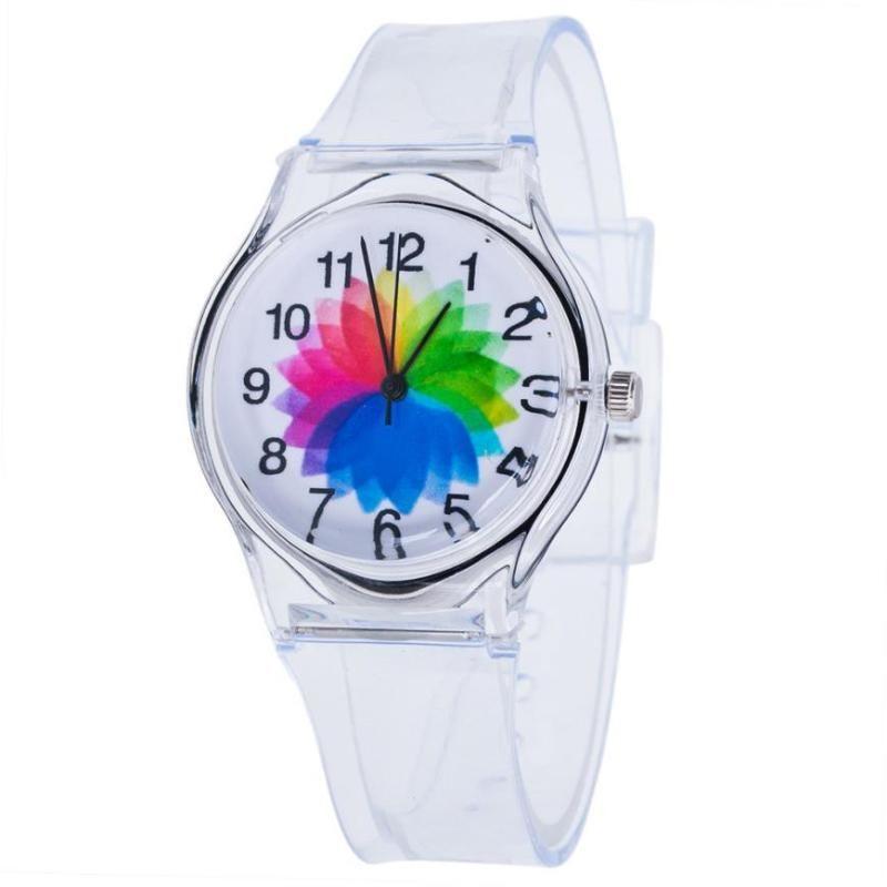 Wristwatches Fashion Watch Transparent Clock Silicone Watches Women Sport Quartz Novelty Crystal Ladies Cartoon