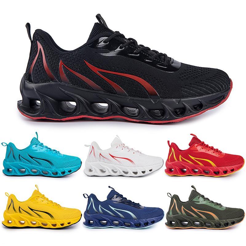 Zapatos de correr no marca Hombres Fashion Trainers Blanco Negro Amarillo Dorado Azul Blue Bred Mens Sports Sports Style # 1