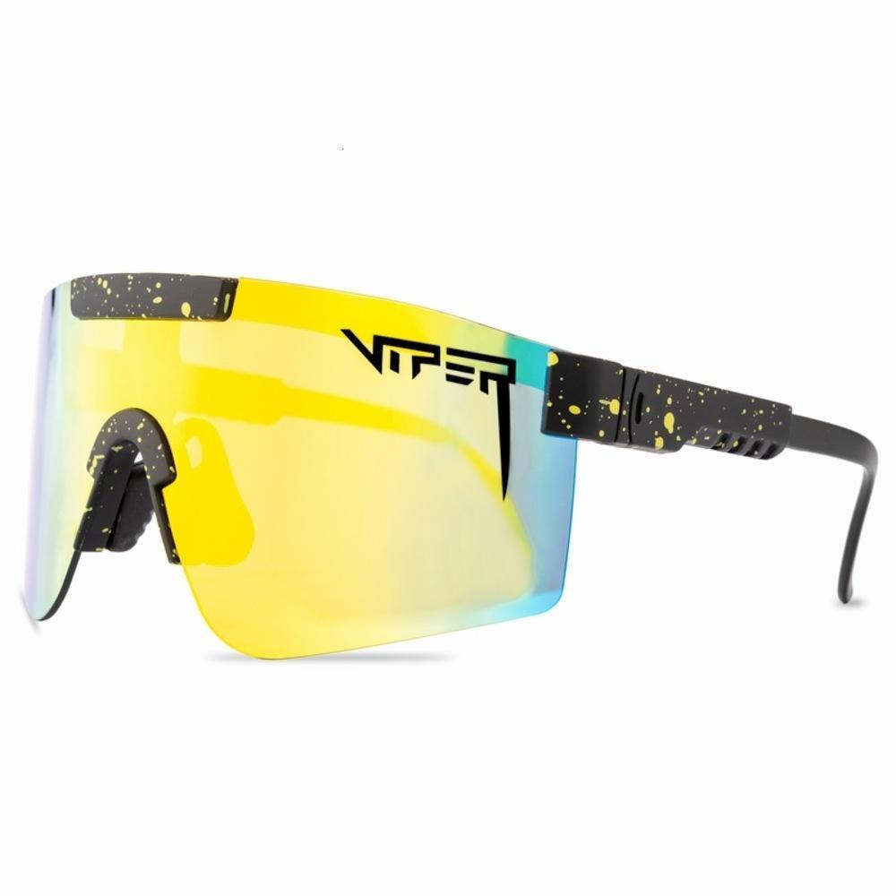 Gafas de sol de gafas deportivas de lujo de lujo de moda retro de alta calidad.