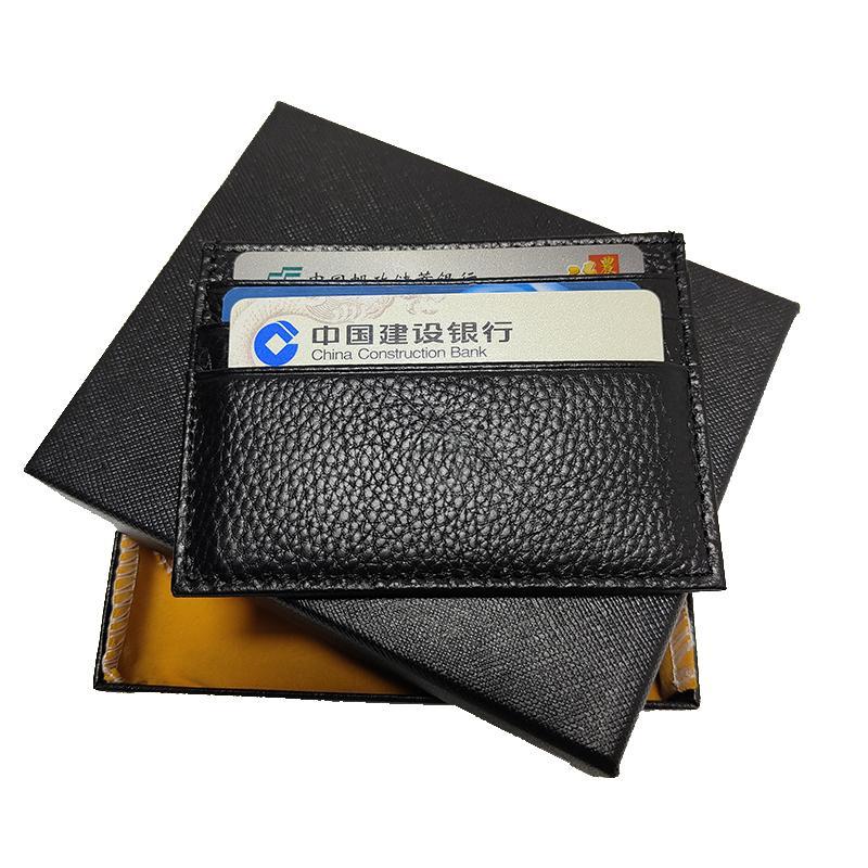 Herren Kartenhalter Tasche Mini Geldbörse Hohe Qualität Thin Visiten Karteninhaber Echtes Leder Handtasche Deutschland Handwerkskunst Mit Box Set