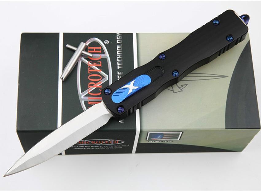 Yüksek Kaliteli Oto Taktik Bıçak D2 Saten Çift Aksiyon Blade CNC 6061-T6 Kolu Onarım Aracı Ile EDC Cep Hediye Bıçaklar