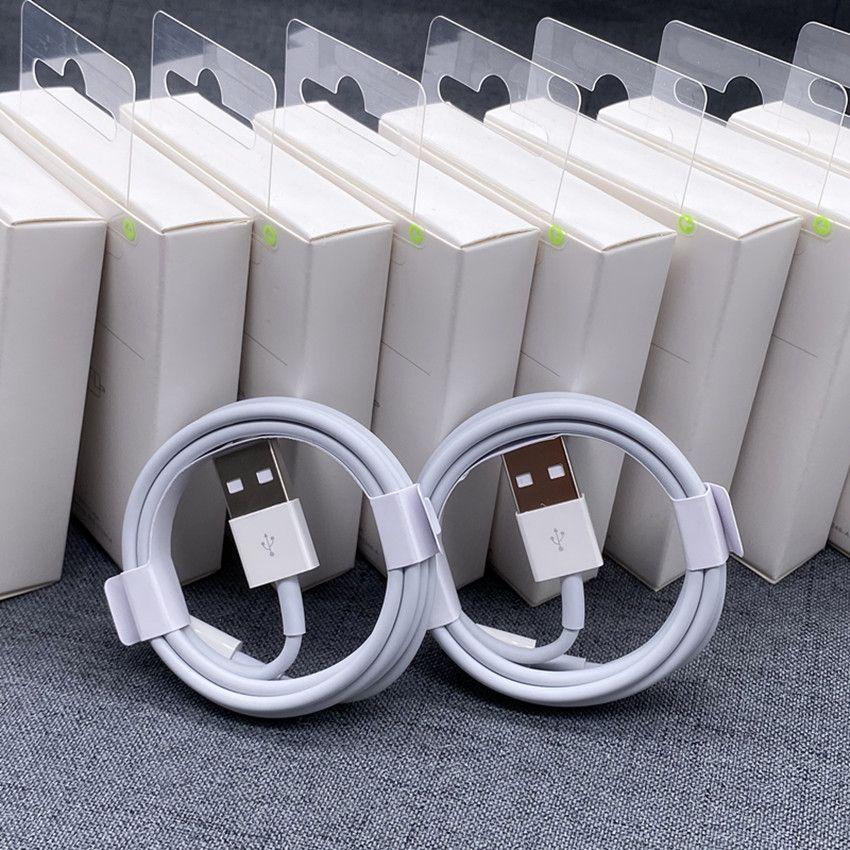 원래 고품질 충전 케이블 1M 2M USB 케이블 데이터 전송 패키지 상자와 아이폰 케이블에 대한 빠른 충전