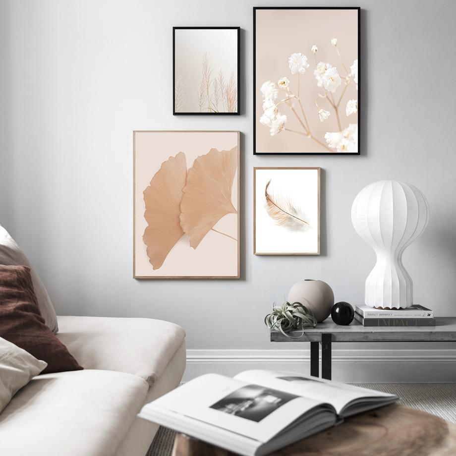 Sonbahar doğa çiçek karahindiba ağacı duvar sanatı tuval boyama İskandinav posterleri ve baskılar oturma odası için duvar resimleri