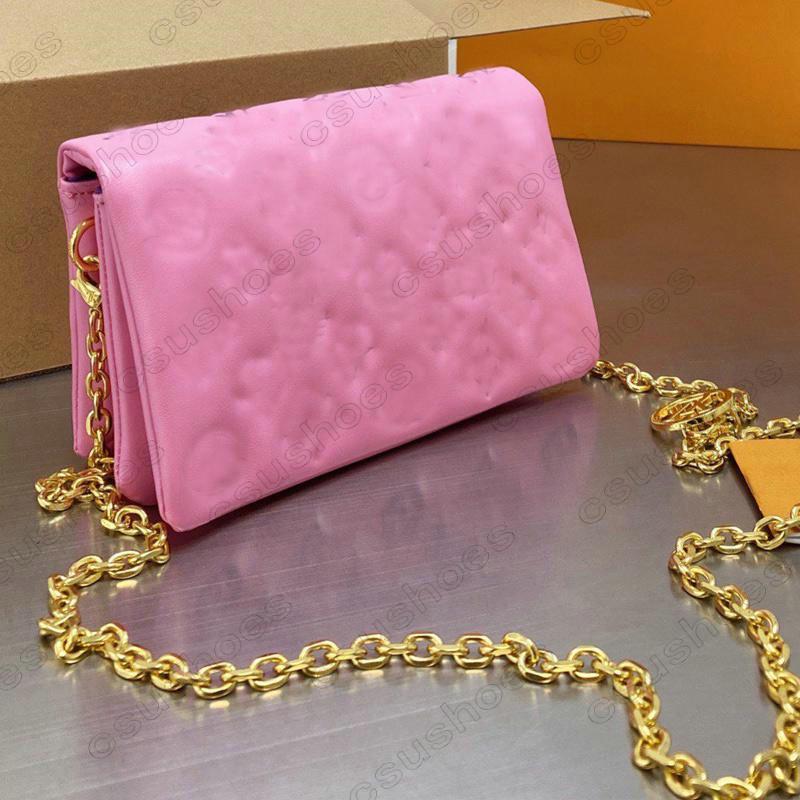 Дизайнерская сумка Coussin PM мешок тиснение сумки дизайнеры монограммы Pochette Luxurys женщин крест сумки сумки цепи кошельки кошельки M57792 M80744 M80742 M80745