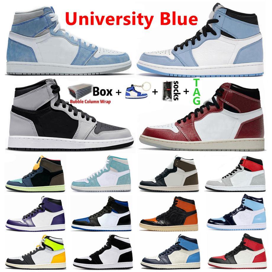 Università Blu 1 1s Hype Royal Royal Dark Mocha Uomini Scarpe da basket Sneakers Pino Verde Obsidiana UNC Twist Brod Toe Banned Sport Donne Shoe