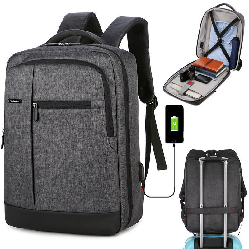 Backpack Travel Multi USB Charger Male College Backpacks Business Back Pack Bag For Boys 15.6 Inch Men School Laptop Mochila
