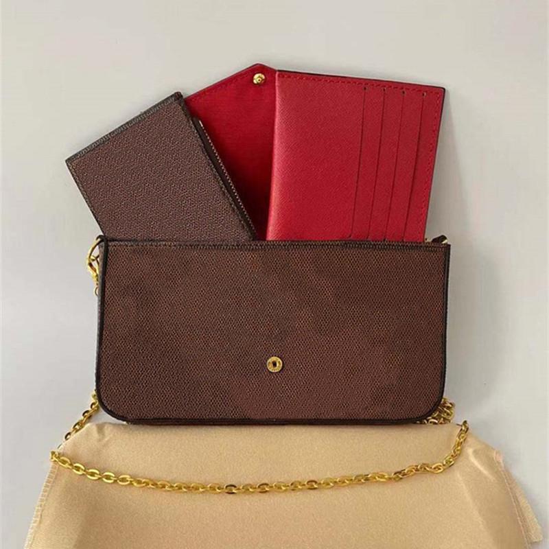 Womens Crossbody Bag Designer Handbag Purse Single Chains Zipper Bags Wallets High Quality Handbags Tote Leather Plaid Purses 3 Pieces Set