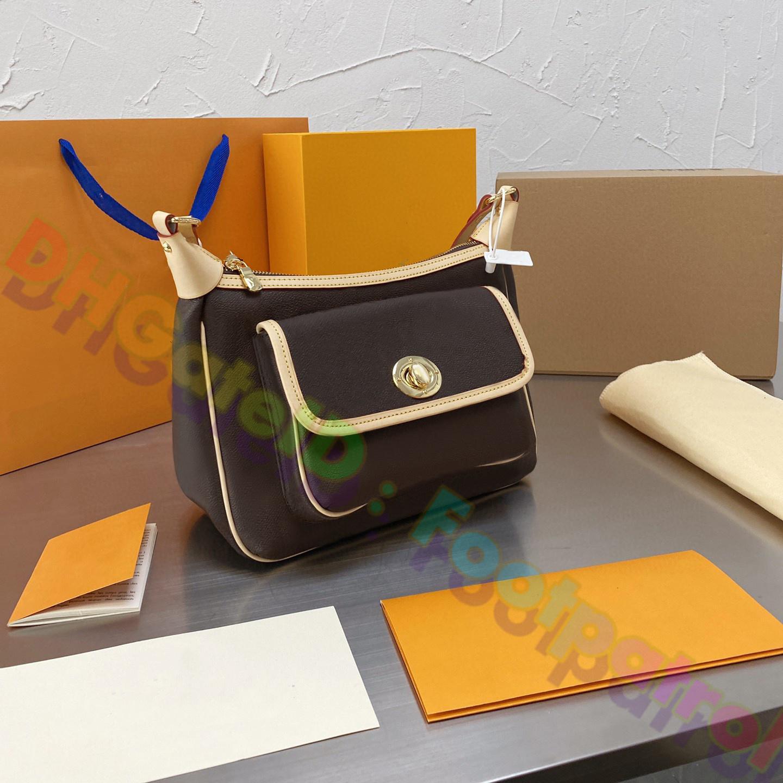 2021 Luxurys Tasarımcılar Çanta Ünlü Kadın Çanta Klasik Vintage Çanta Cep Kadın Deri Kadın Avrupa En Kaliteli Bayanlar Fahsion Omuz Çantası