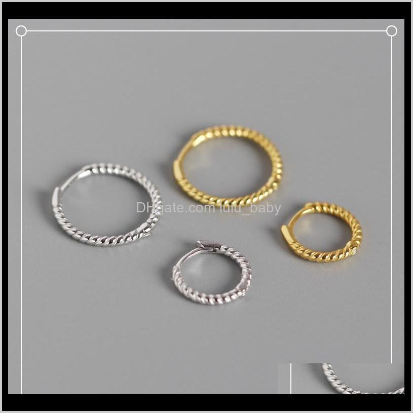 & Hie Jewelry Drop Delivery 2021 Est 925 Sterling Sier Earrings Ear Cuff Clip On Round Circle Gold Hoop Women Earring Accessories Xgkrv