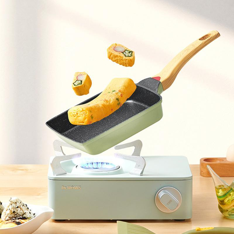 Fácil fritar frigideira fácil fritar ferramenta de cozinhar ferramenta non vara japonês tamagoyaki cookware ovo revestimento quadrado omelete panela panqueca