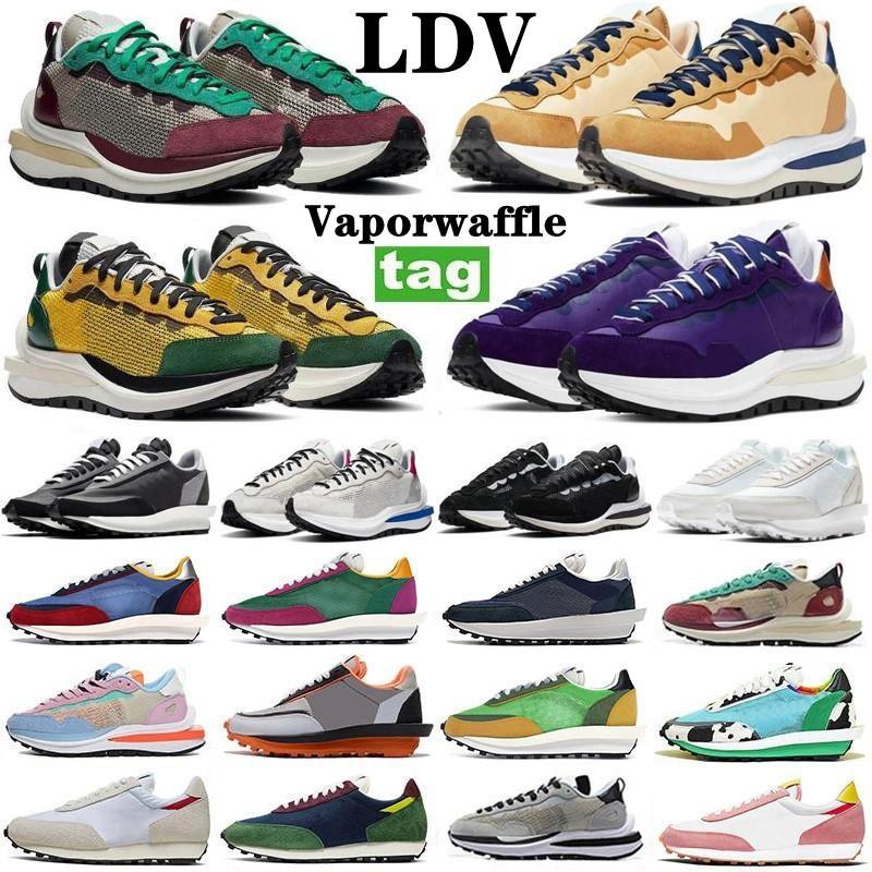 2021 homens mulheres sapatos ldv preto branco nylon pinho verde pombo gusto ld vaporwaffle ldwaffle waffle sacoi outdoor mulheres treinadores esportes tênis tamanho 36-45