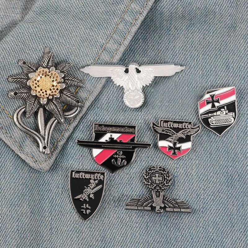 Cockade Eagle WWII CROSS WW2 CAP немецкий военный ослабенский PIN-код армии элитные Edelweiss войска Империя цветок Luftwaffe Pins значки