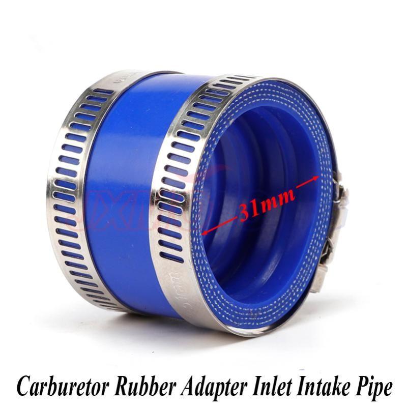 Carburetor Rubber Adapter Inlet Intake Pipe For 21 24 26 28 30mm OKO KEIHIN KOSO PE Motorcycle Pit Dirt Bike Fuel System