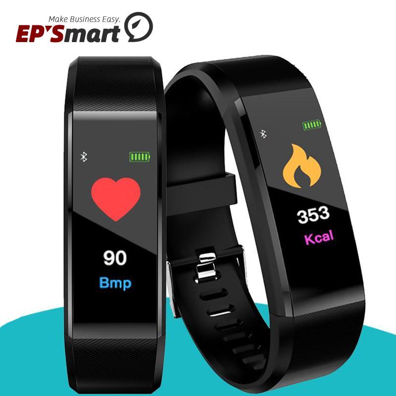 Цветной ЖК-экран ID115 PLUS Smart Britbands Bractelet Fitness Tracker Шагомер Часы Band Band Rate Rate Monitor Monitor Браслет