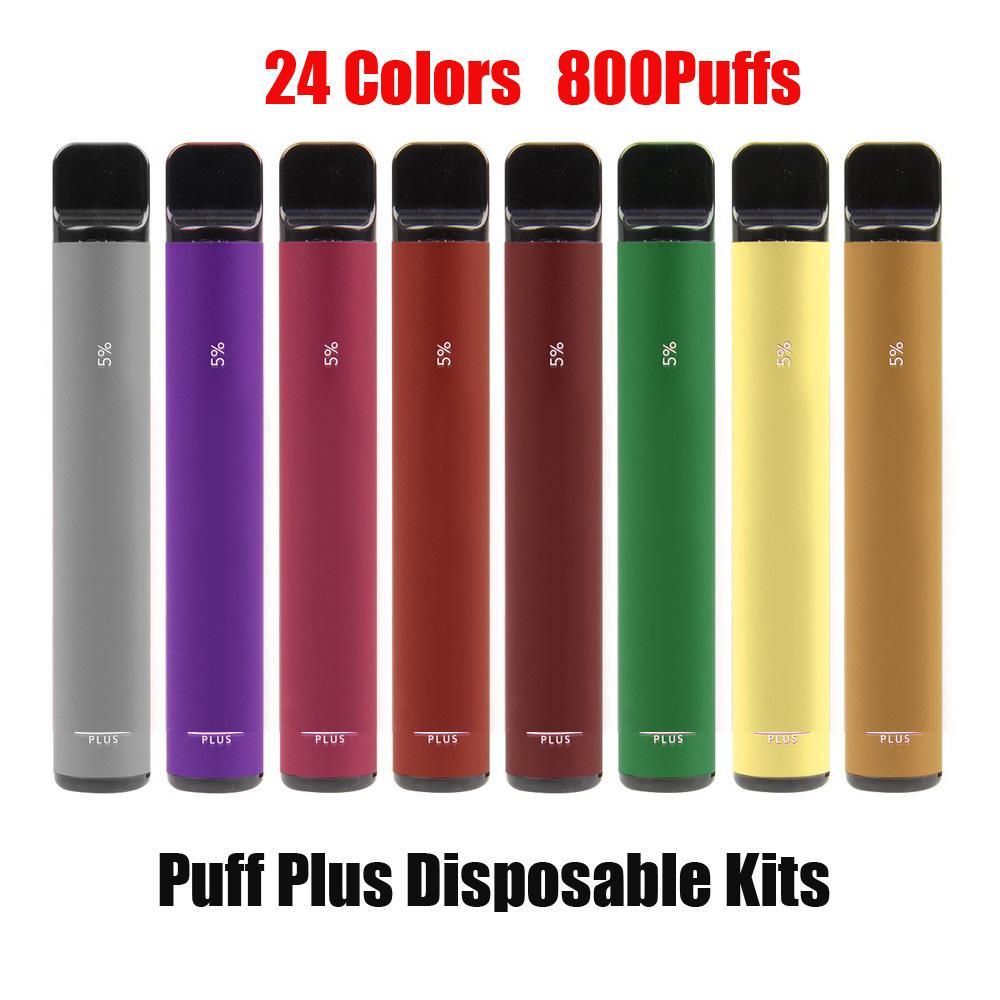 Puff bar PLUS POD monouso E-sigaretta dispositivo 800 sbuffi 550mAh Batteria 3.2ml Cartridge Preriellato Penna Vape VS Flex Bang XXL