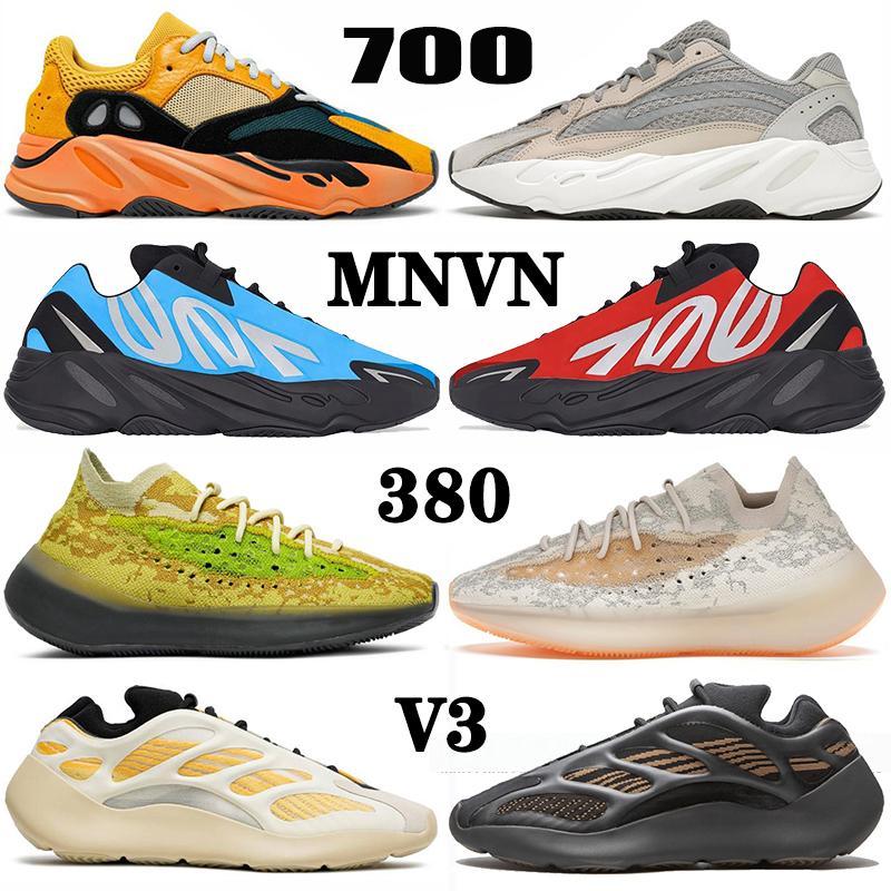 2020 Новое прибытие Kanye West 700 Azareth кроссовки для мужчин женщин Runner Azael Alvah чужеродным Mist Carbon Голубых VANTA Спортивные кроссовки Тренеров