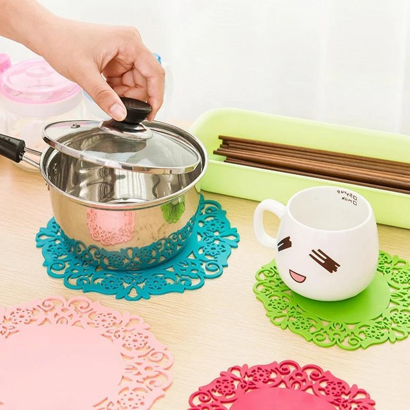 Mats Pads 2021 Creative Silicone Huegue Design Tea Anti-Slip Coff Coff Coff Coff Accessories Wholesale