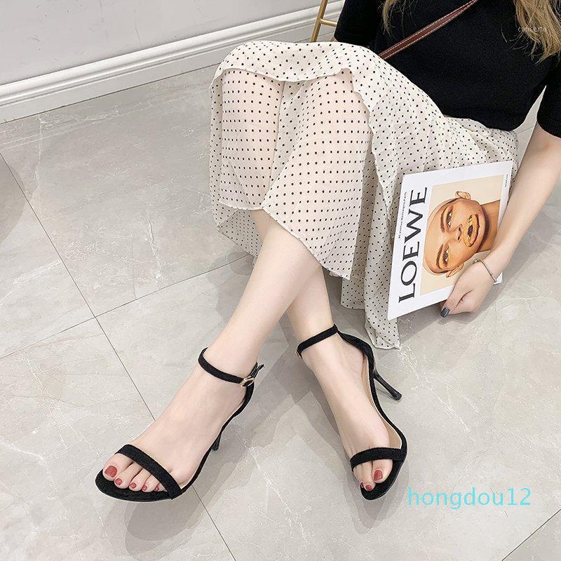 Nero beige sottile sandali tallone donne tacco alto tacco alto sandali avvolgere estate sexy ufficio open toe tacchi alti donne 8 cm zapatos mujer1