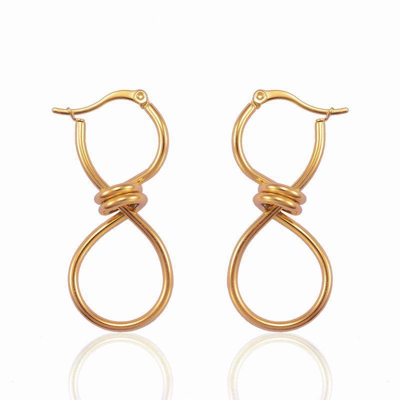 Mode gros cercle rond cerceau boucles boucles d'oreilles en acier inoxydable pendaison pendaison pendale oreillette pour femmes filles fête bijoux huggie