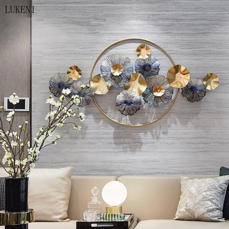 Nuovo stile cinese soggiorno dorato in ferro battuto decorazione della parete ristorante ristorante a muro decorazione della finestra in metallo creativo