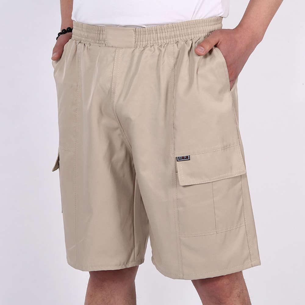 Pantaloncini estivi Casual da uomo grandi dimensioni multicolor sottili pantaloni da spiaggia di mezza età del padre dei capri