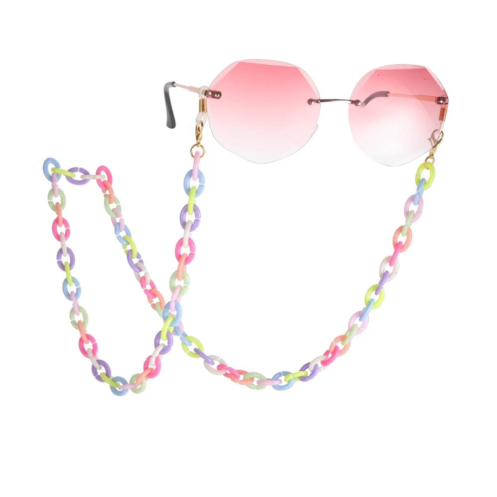 crylic Glasses Chain Mix Color Sunglasses Chain Women Anti Slip Reading Eyewears Accessories Holder Necklace Cords