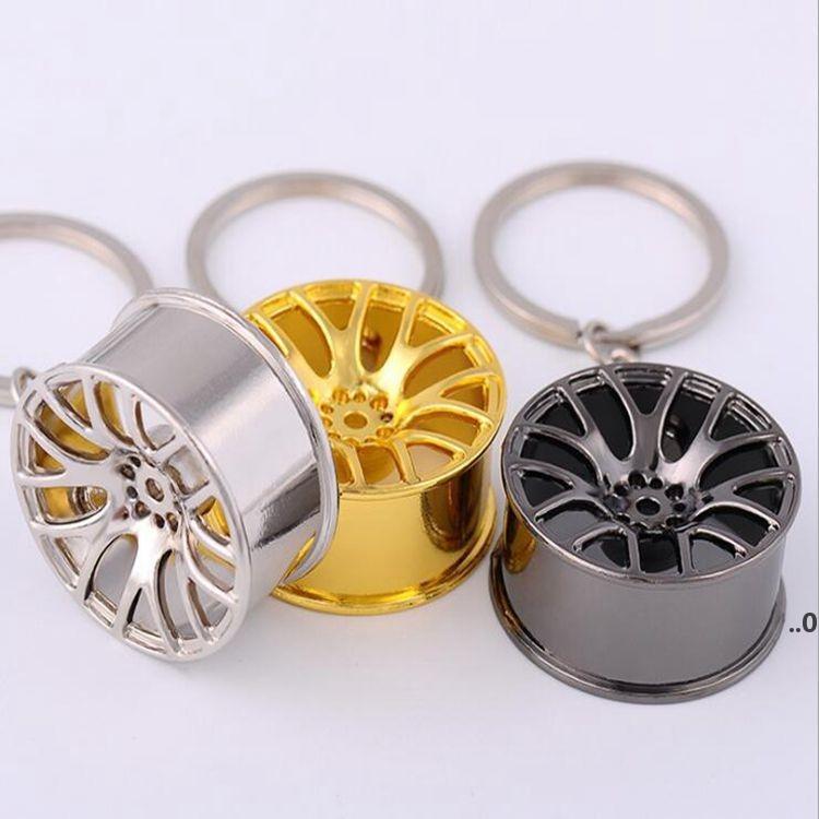 المعادن عجلة محور أقراط السيارات الرياضية سيارات حزب عجلات حلقات المفاتيح قلادة الفضة الذهب المعلقات السوداء معلقة 3 ألوان FWB8917