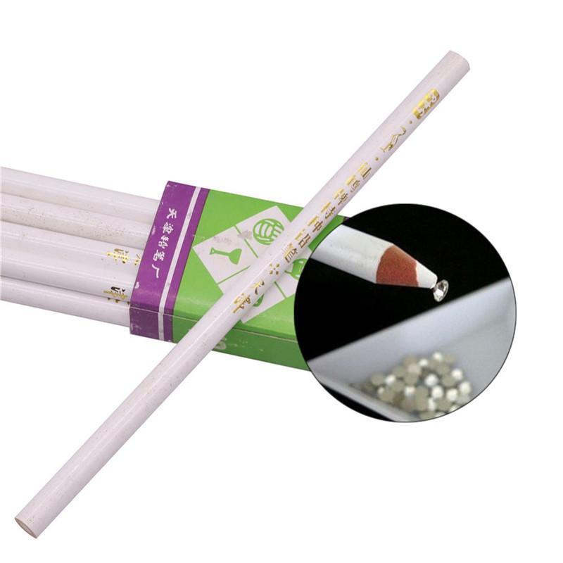 PCS Blanco Lápiz DIY Succión Cristal Sticky Manicure Herramientas Belleza Nail Pen Lápices especiales