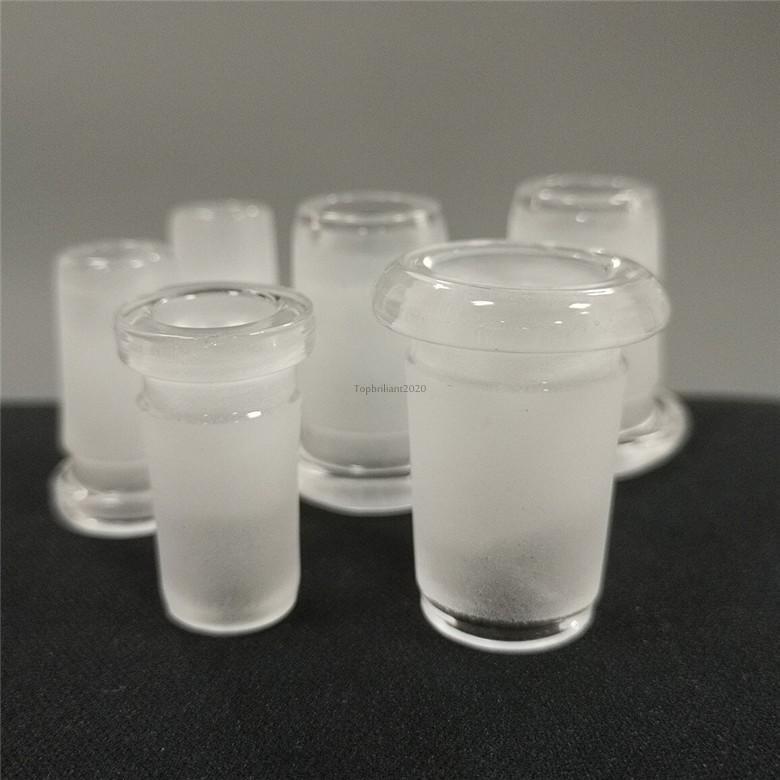 Convertitori di adattatori in vetro da 10 mm / 14mm per al quarzo Banger DAB Rig a petrolio acqua Bongs Prezzo all'ingrosso FY2393