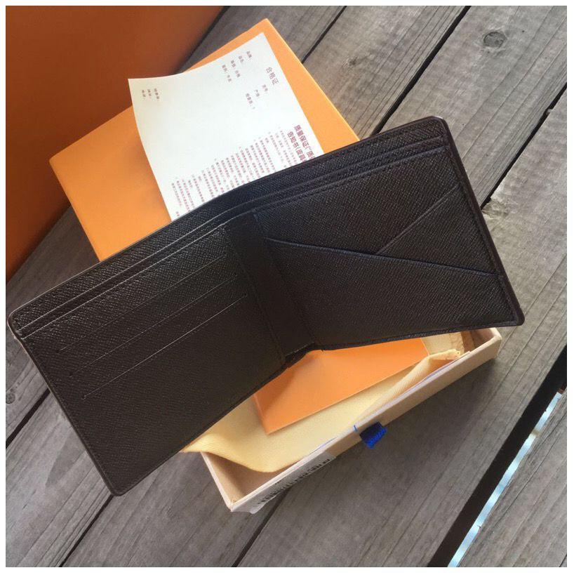 2021 Paris fashion Style coin pouch men women lady leather purse key wallet mini wallets serial number box dust bag