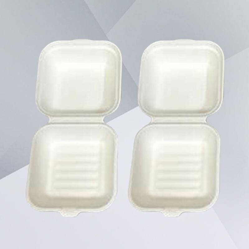 PCS-Einweg-Zellstoff-Verpackungskästen hochwertiger Nehmen Sie Obst-Container-Container - 15x15x8cm (weiß) Geschenkverpackung