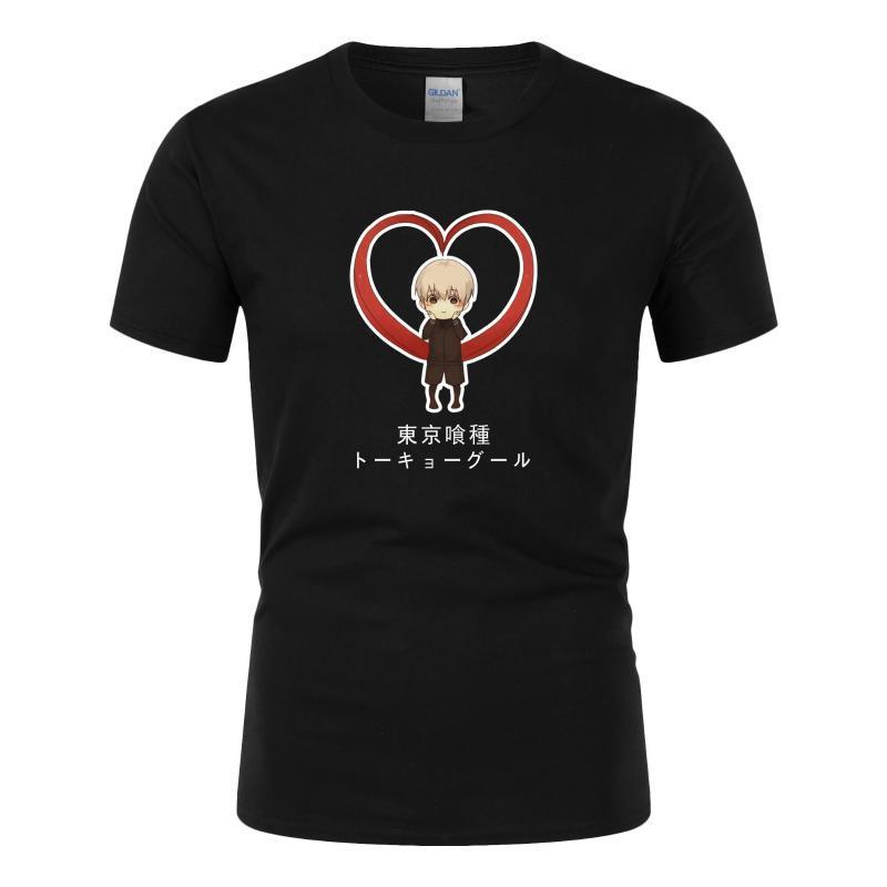 Erkek T-Shirt Janpanese Anime T-shirt Erkekler Tokyo Ghoul Baskılı Fitness O Boyun Erkek Tişörtleri XS-3XL