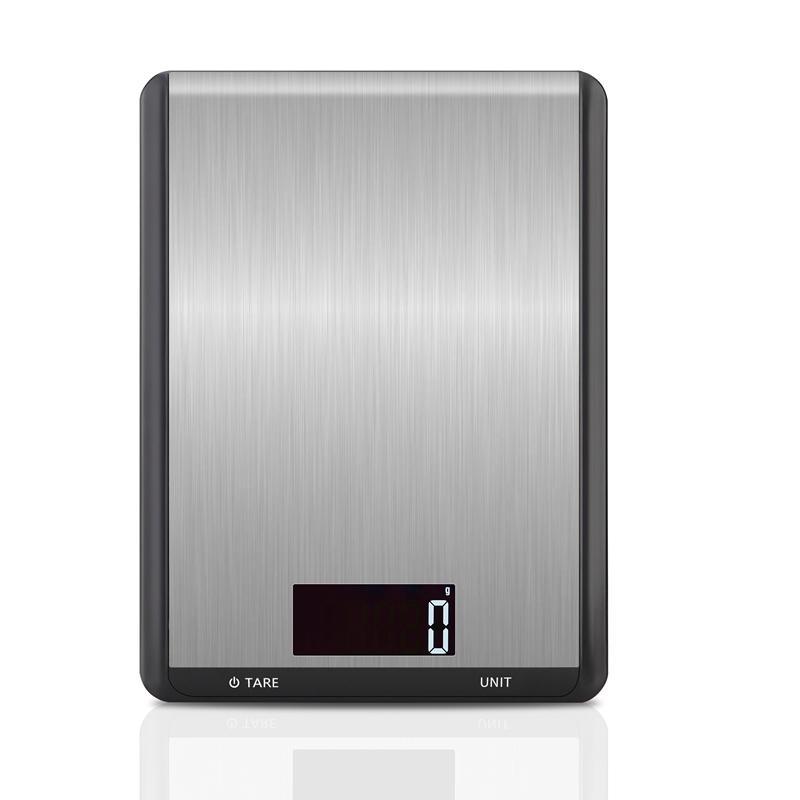10kg / 1g multi-função Digital Alimentos Escala de Cozinha Aço Inoxidável LCD Dispaly Pesando Balança de Alimentos Ferramentas de Cozinha Balance ML Oz LB 210401
