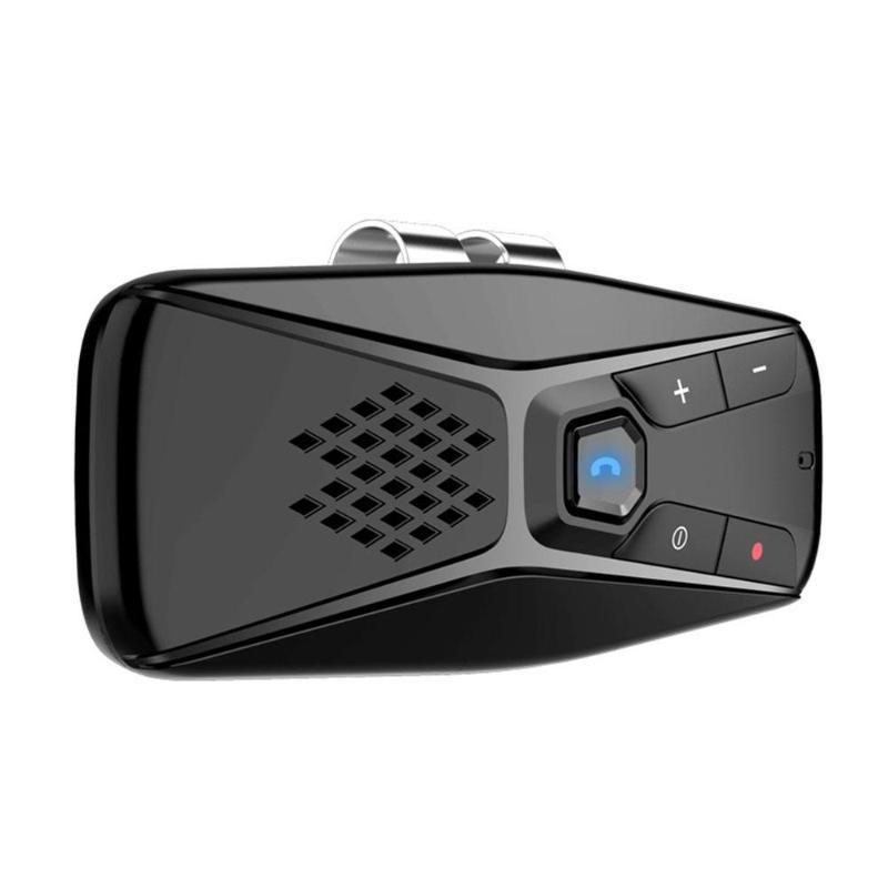 Eastvita Manos libres Bluetooth 5.0 Kit de automóvil Altavoz inalámbrico Auto Sun Visor Reproductor de MP3 Player Support Siri Google Assistant Microphones