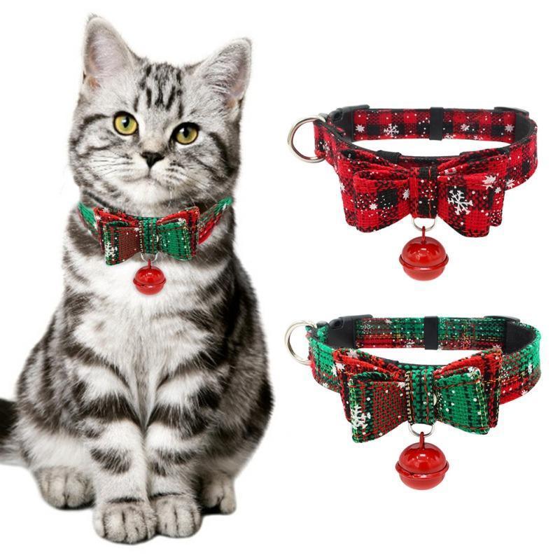 Collari per cani Guinzaglia Natale Pet Collar Carino Bow Tie Piccoli cani Gatti Bowknots Accessori per collana regolabile