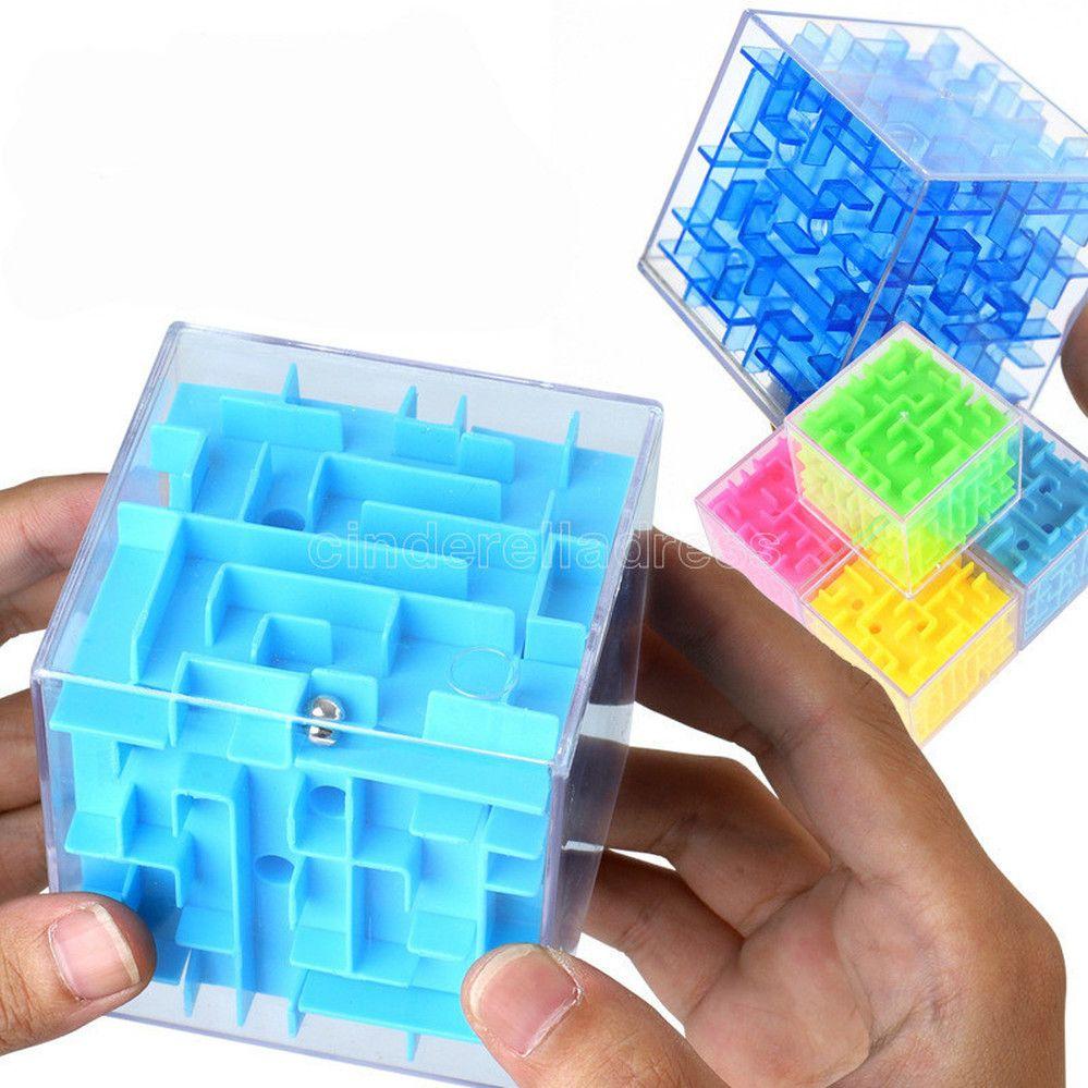 Dhl 4 سنتيمتر جديد 3d المتاهة ماجيك مكعب شفافة ستة الوجهين لغز سرعة مكعب المتداول الكرة لعبة cubos متاهة لعب للأطفال تعليمية FY4750