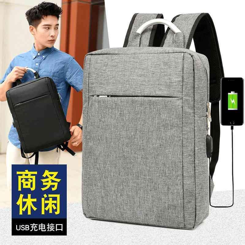 Slim Caso protettivo regalo USB zaino per il tempo libero viaggio business business borsa da uomo