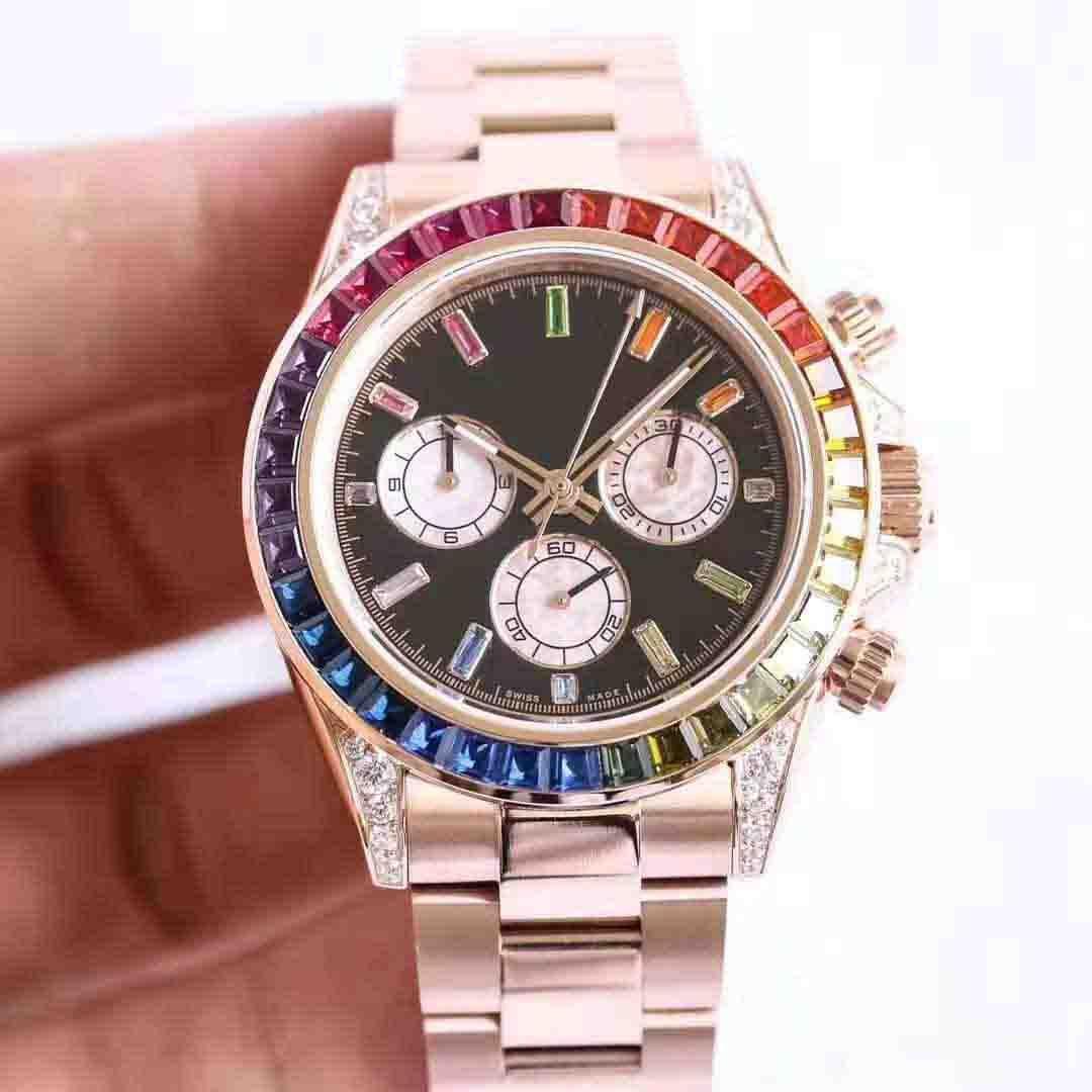 MASTER Lüks otomatik erkek mekanik saat tasarımcısı saatler izlemek İyi yeni tüm elmas Cosmograph lüks yıldız elmas izle