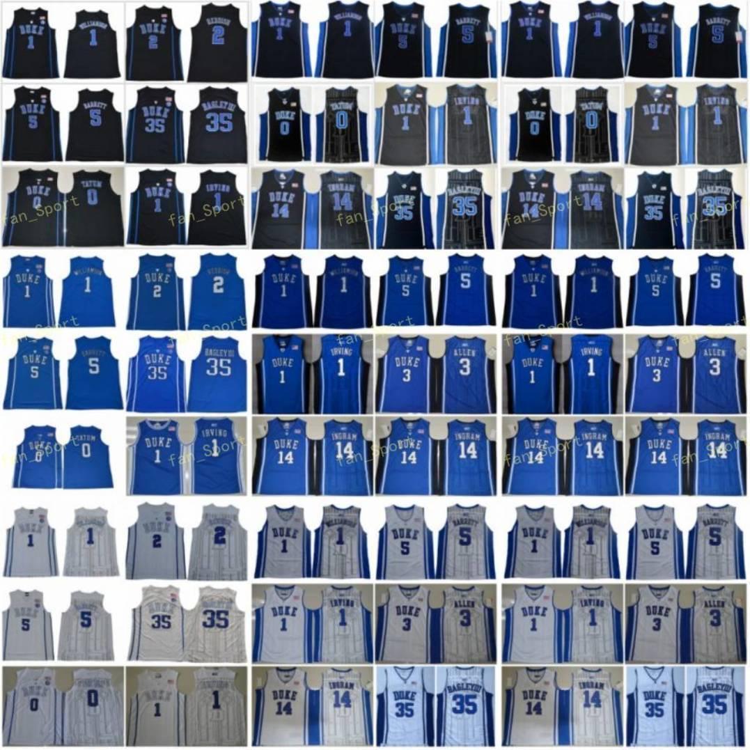 College Jayson Tatum Jersey 0 Duke Blue Devils Basketball Zion Williamson 1 Cam Reddish 2 RJ Barrett 5 Kyrie Irving 35 Marvin Bagley III