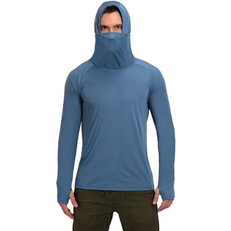 Camisetas para hombre Camisas de pesca para hombres Manga larga UV Protección solar Tops Tops Tops al aire libre Senderismo desgaste sólido SIMPLE SLIM FIT TEE