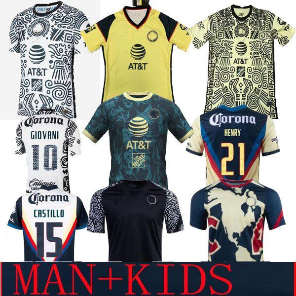 Liga MX 21 22 22 22 Club América Futebol Jerseys Verde Terceiro Henry 3rd Giovani Cáceres B.valdez 2021 Home Away Maillot Men Kit Kit Futebol Camisas