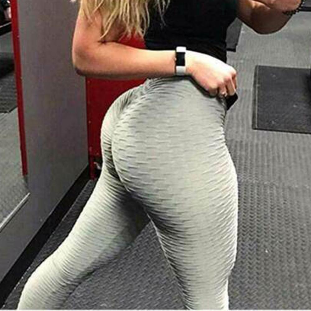 Popo Kaldırma Yoga Pantolon Anti-Selülit Tozluk Kadın Fitness Spor Yüksek Bel Egzersiz Tayt Screunch Booty Spor Spor Pantolon