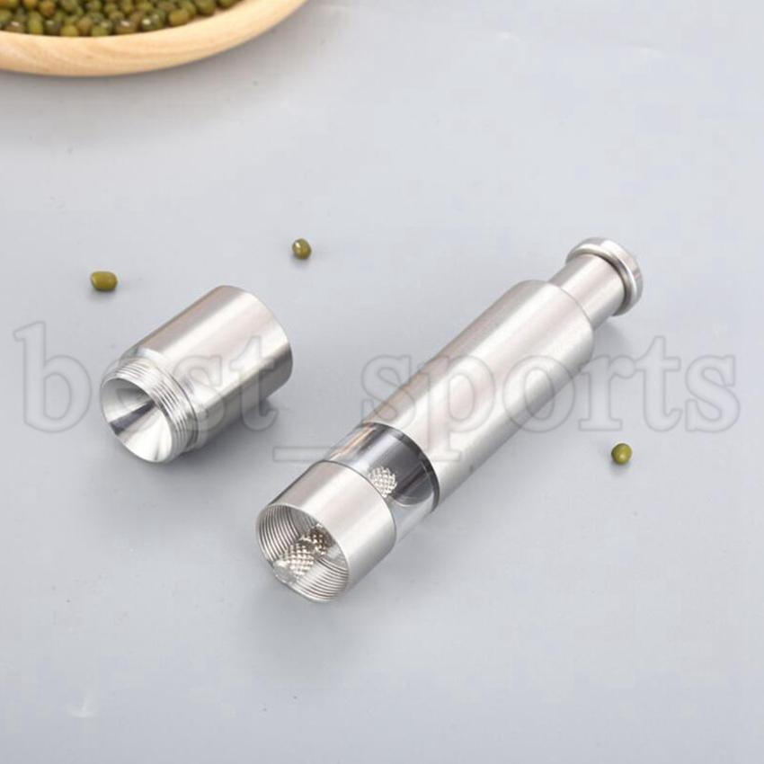 Moinho de pimenta manual Moedor de aço inoxidável Salt Muller Spice Molho Home Pepper Moedores Cozinha Ferramentas CYZ3159